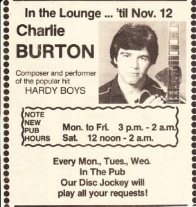 Vintage Charlie Burton Convert Ad